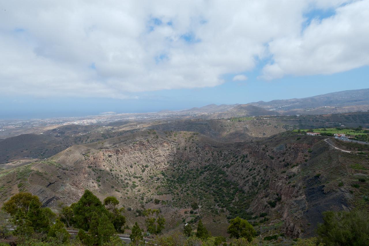 The Bandama Caldera in Gran Canaria, Spain
