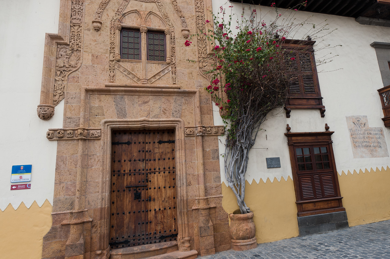 Entrance door to the Columbus' House in Gran Canaria, Spain