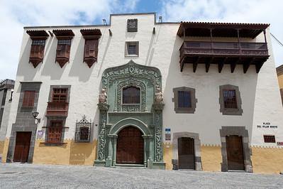 Columbus' House in Plaza del Pilar Nuevo, Gran Canaria, Spain