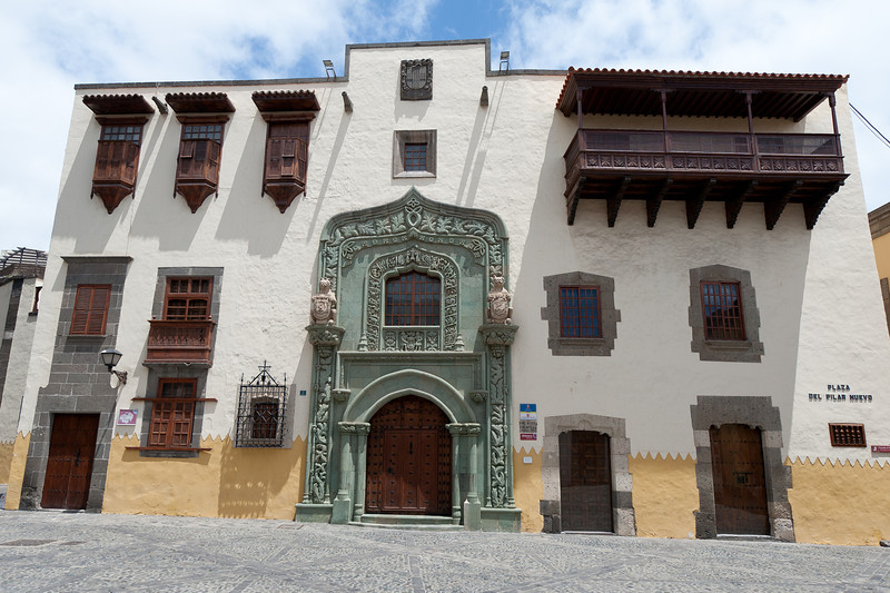 Columbus' House in Plaza del Pilar Nuevo, Gran Canaria, Spain