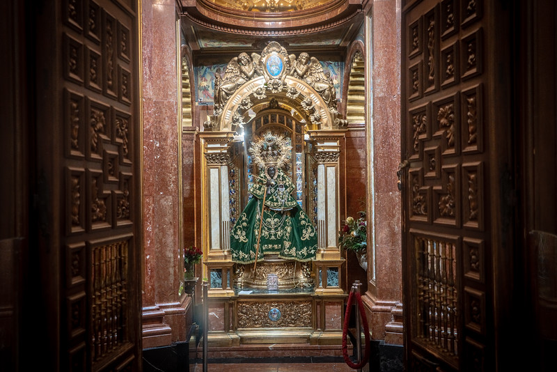 The Virgin of Guadalupe Statue
