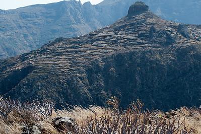 Natural rock formation in La Gomera, Spain