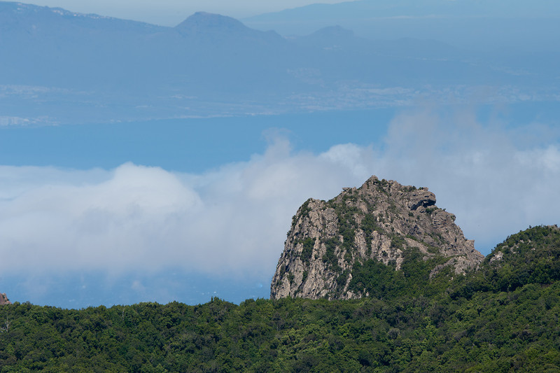 Large rock mountain in La Gomera, Canary Islands, Spain