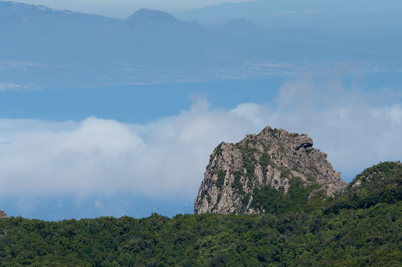 Large rock mountain in La Gomera, Canary Islands, Spain