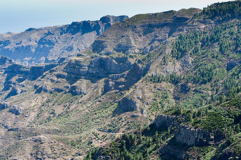 Mountain and rock cliffs in La Gomera, Spain