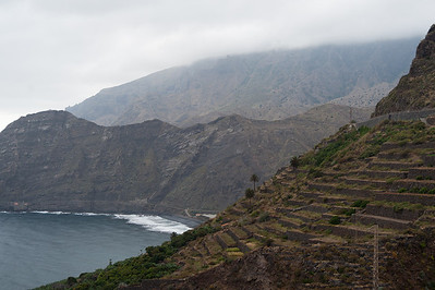 View of the coastline in La Gomera, Spain