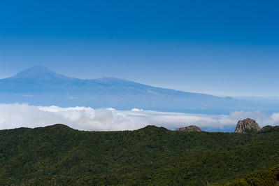 Mountain overlooking La Gomera in Spain