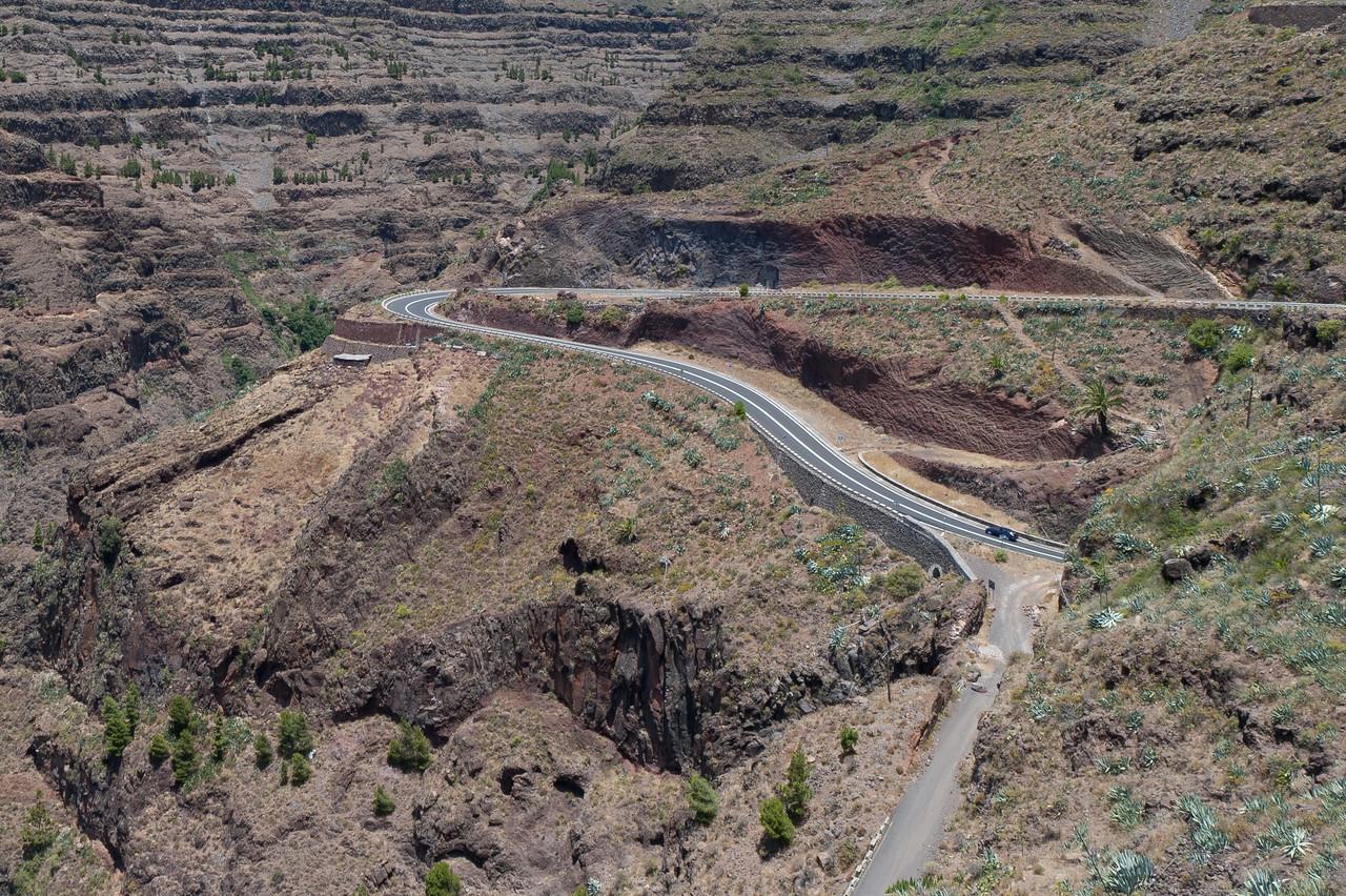 Scenic drive in La Gomera, Canary Islands, Spain