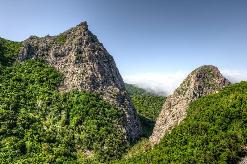 Giant mountain formation in La Gomera, Spain
