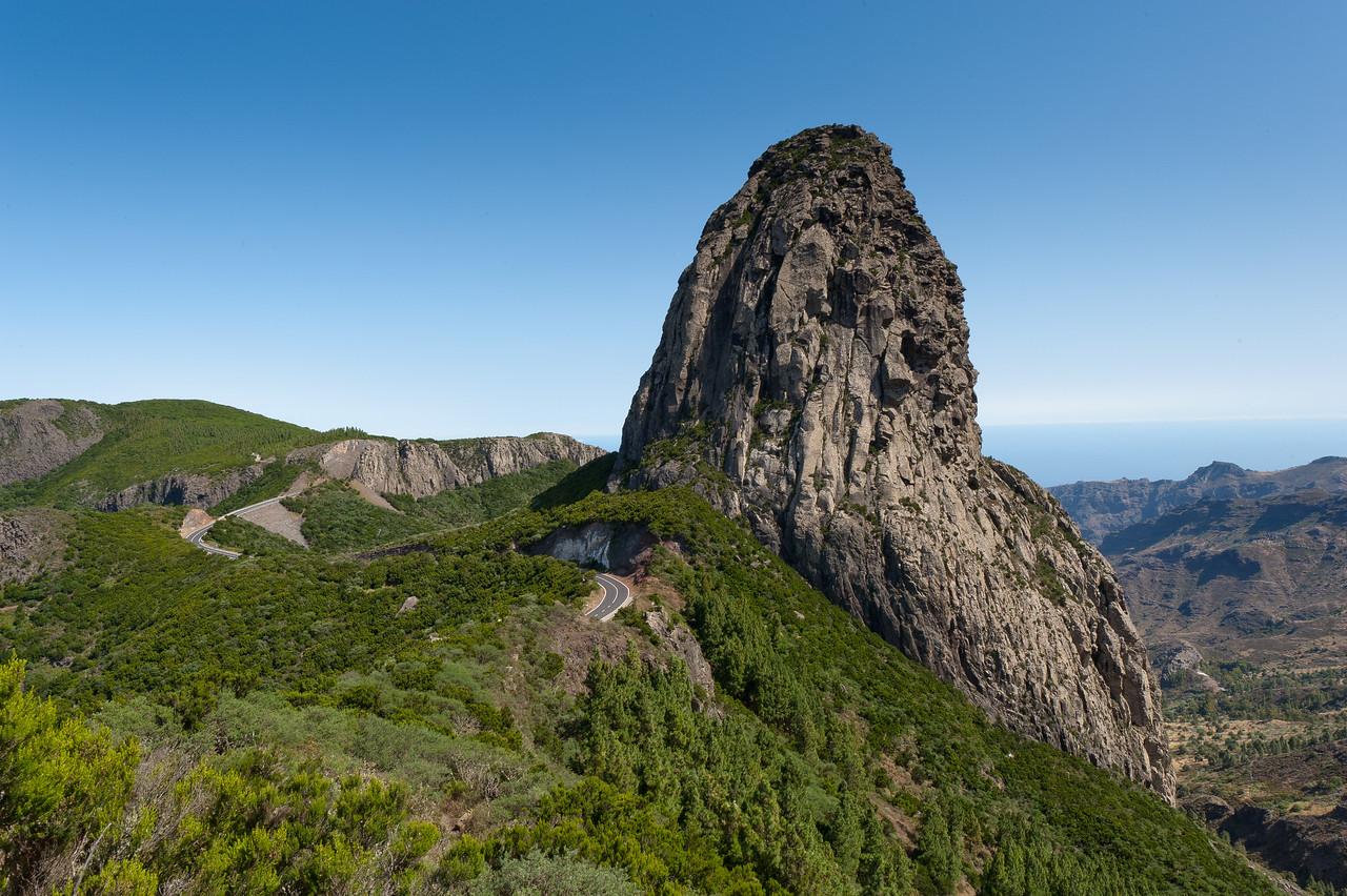 Roque de Agando in La Gomera, Spain