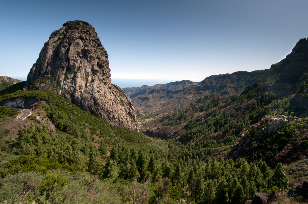 Roque de Agando on the island of La Gomera, Canary Islands
