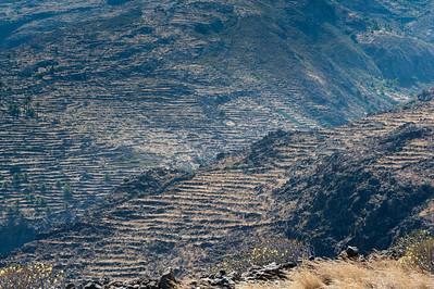Wide shot of the scenery in La Gomera, Spain