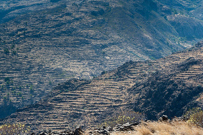 Wide shot of the scenery in La Gomera, Spain