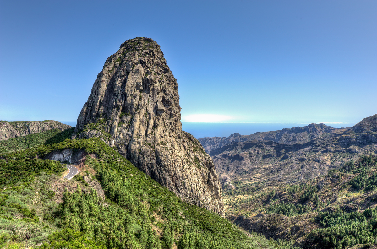 Roque de Agando in La Gomera, Canary Islands