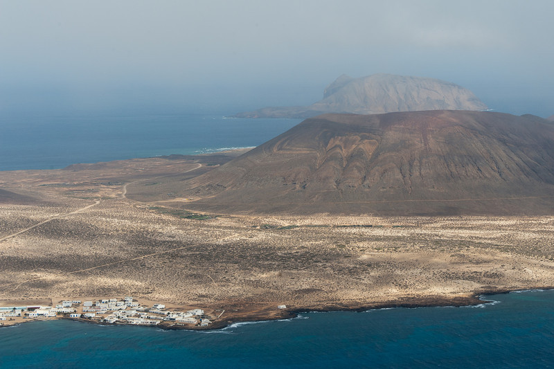 View of the island of La Graciosa from Lanzarote in Spain