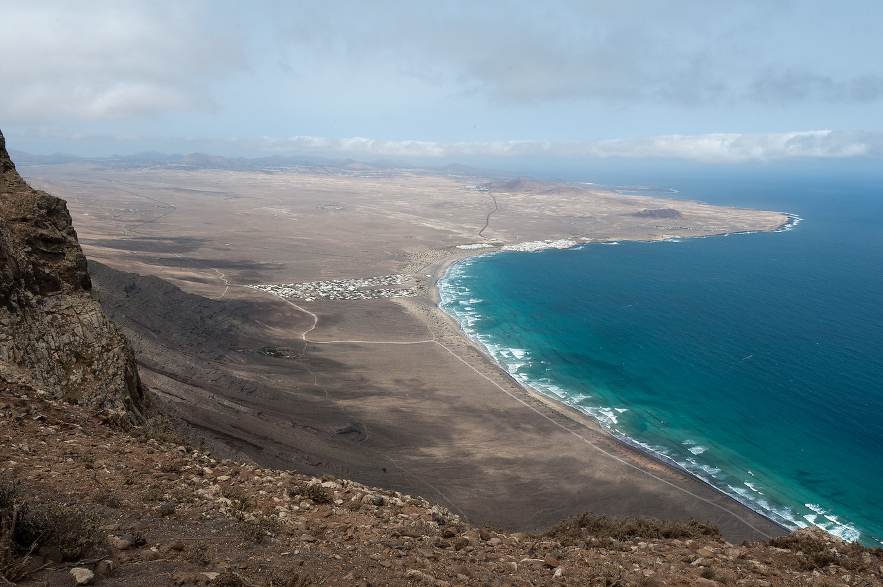 View of the coastline at Lanzarote Island in Spain