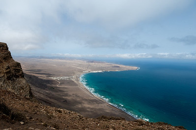 Coastal scenery at Lanzarote Island in Spain
