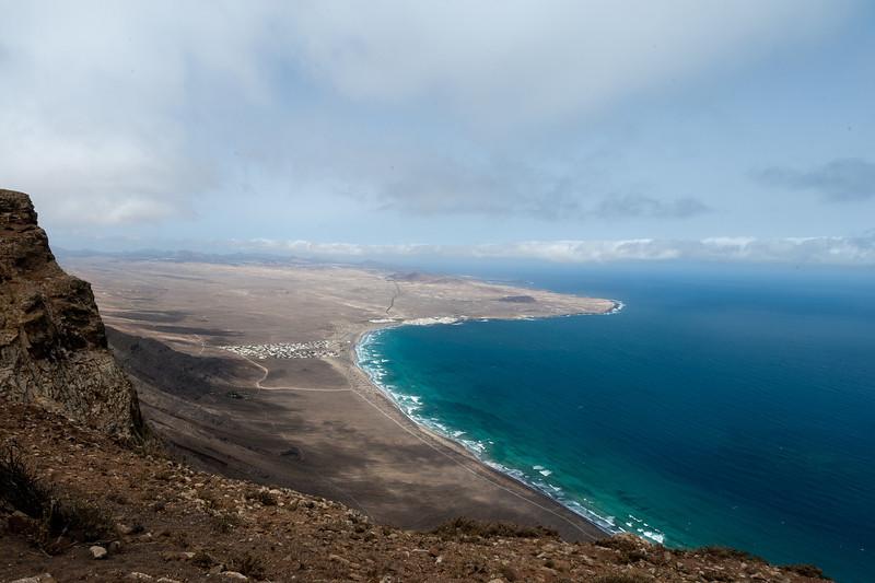 Coastal scenery at Lanzarote Island in Spain
