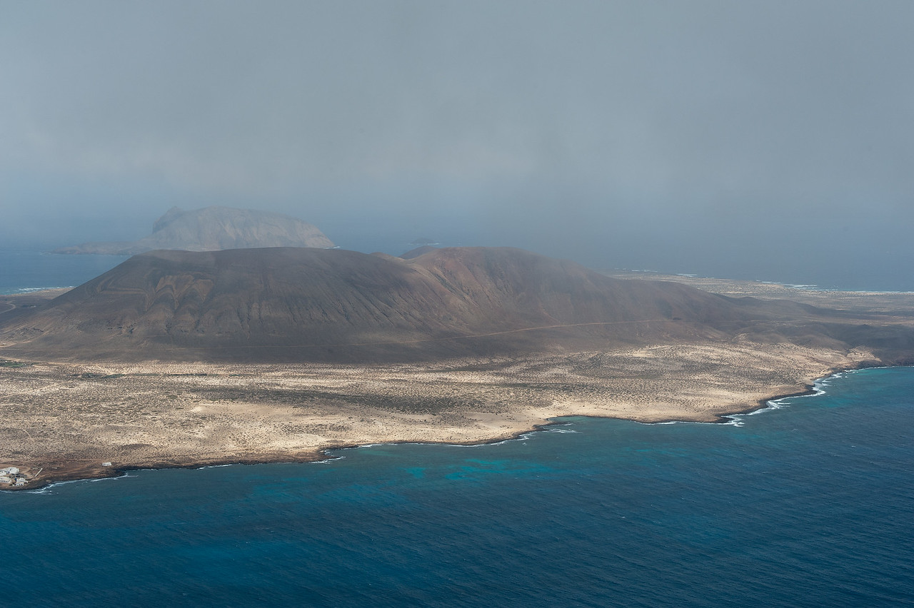View of the La Graciosa island in Canary Islands, Spain