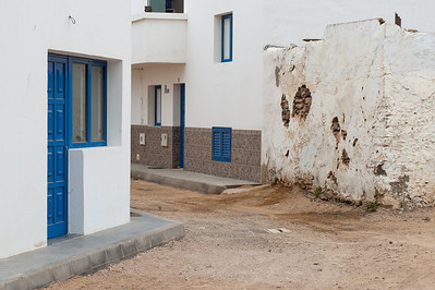 Buildings on a village in La Graciosa, Lanzarote, Spain