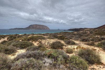 Coastal scenery in La Graciosa, Canary Islands, Spain