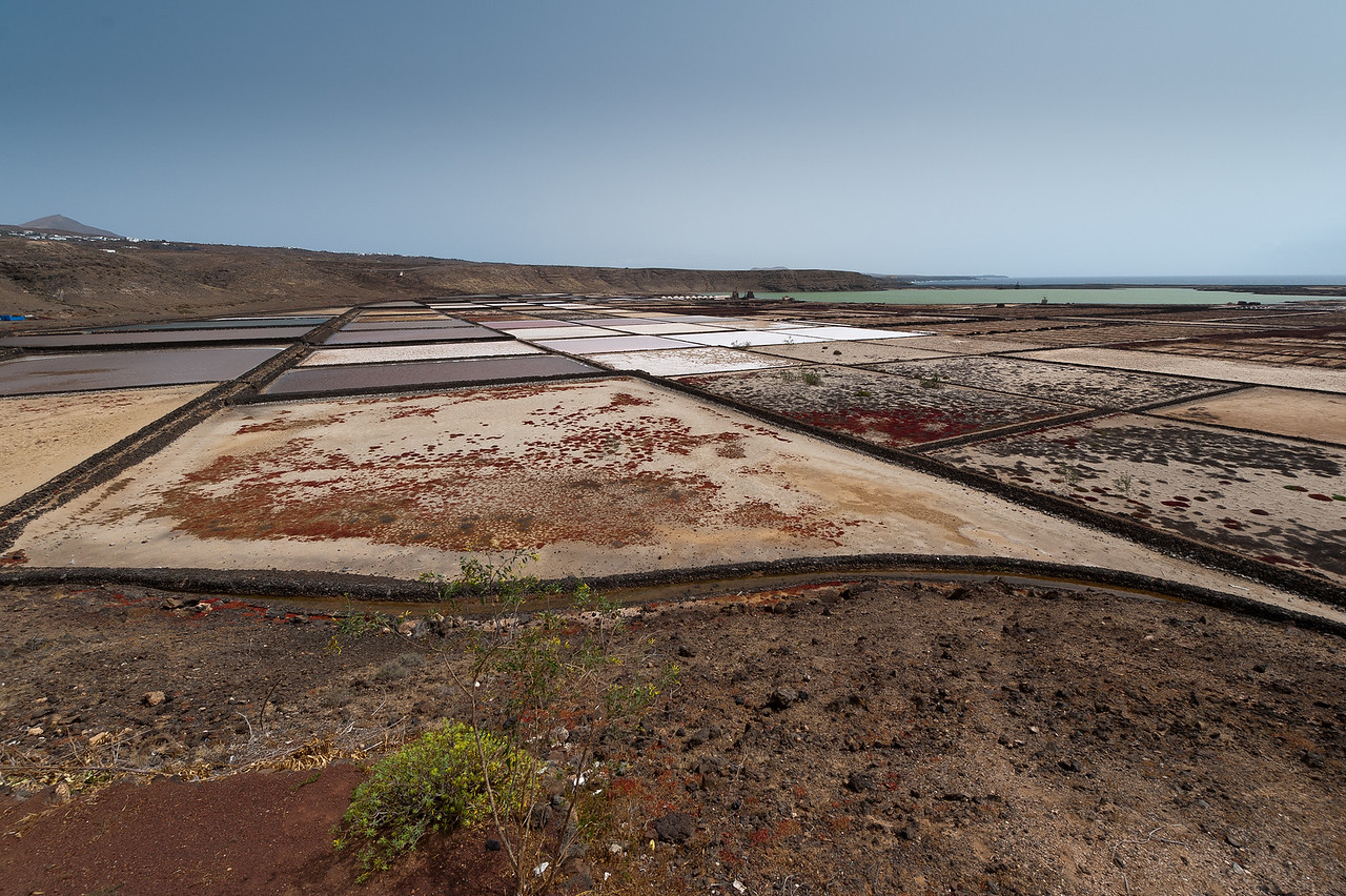 Salinas de Janubio, in the west of the island of Lanzarote, Spain