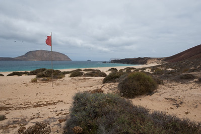 Coastal scenery on the island of La Graciosa, Canary Islands, Spain
