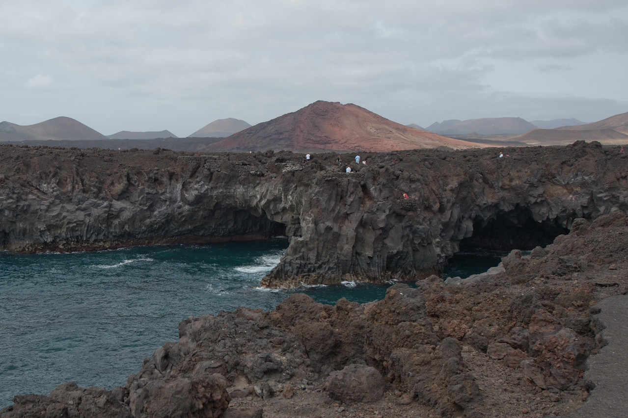 Costa Los Hervideros in Lanzarote, Spain