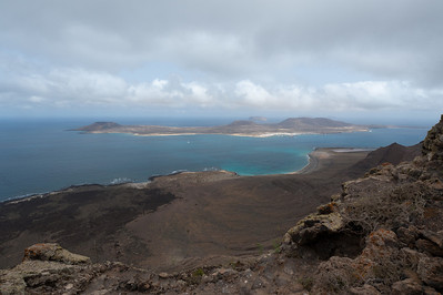 View of La Graciosa from Lanzarote in Spain