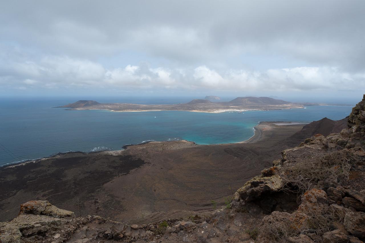 View of La Graciosa from Lanzarote in Spain
