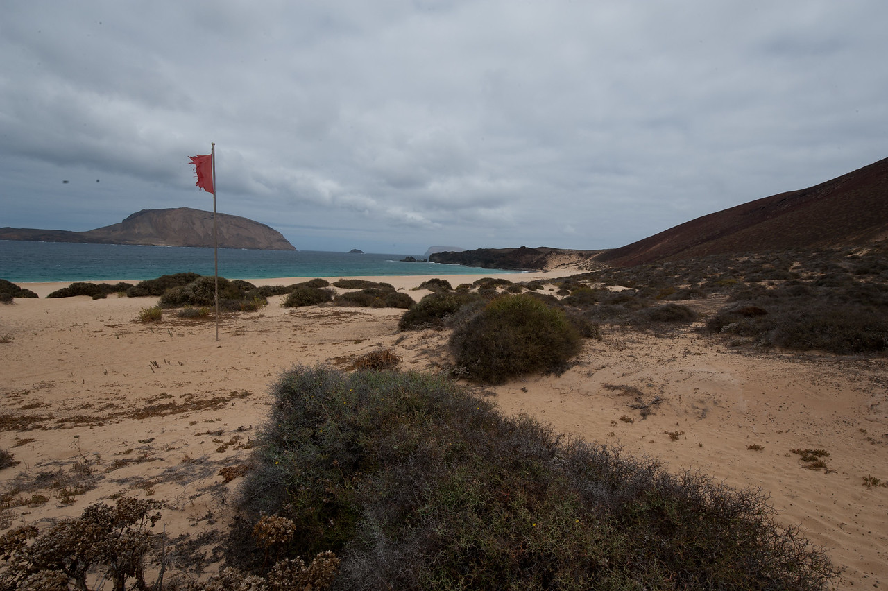 Coastal scenery in the island of La Graciosa, Canary Islands, Spain