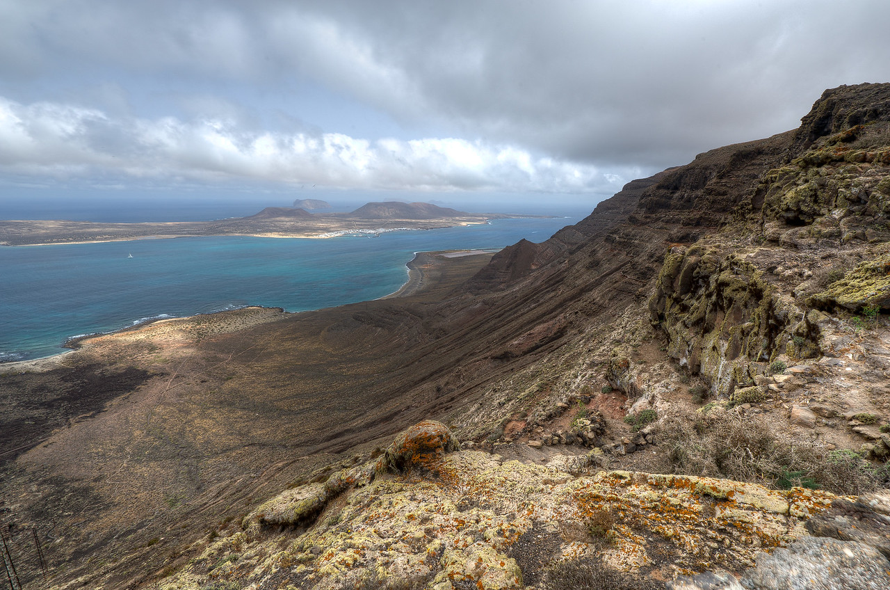 View of La Graciosa island from Lanzarote in Spain