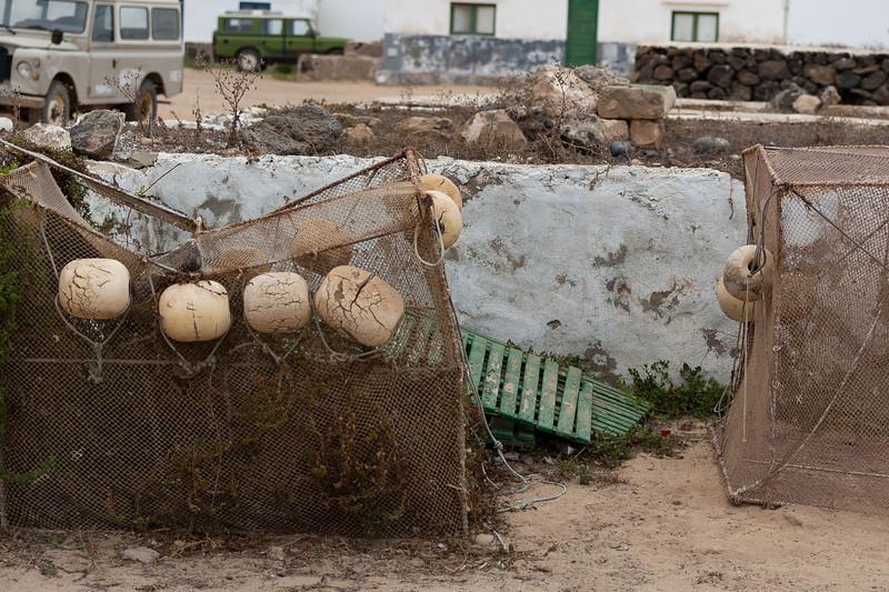Fish traps on a village in La Graciosa, Lanzarote, Spain