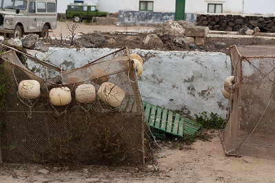 Fish traps on a village in La Graciosa, Lanzarote, Spain