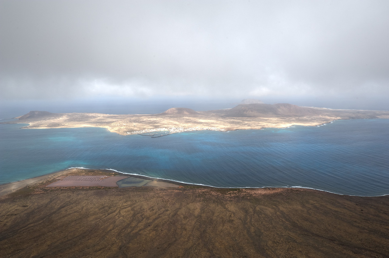 View of the island of La Graciosa from the island of Lanzarote in Spain