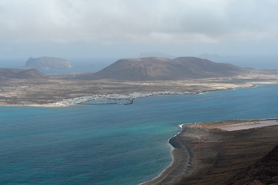 View of La Graciosa island from Lanzarote in Spain