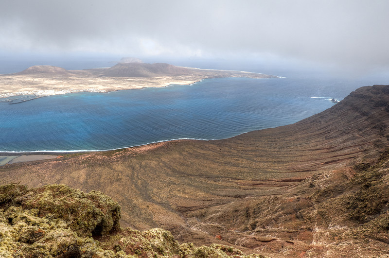 View of the island of La Graciosa from the island of Lanzarote - Spain