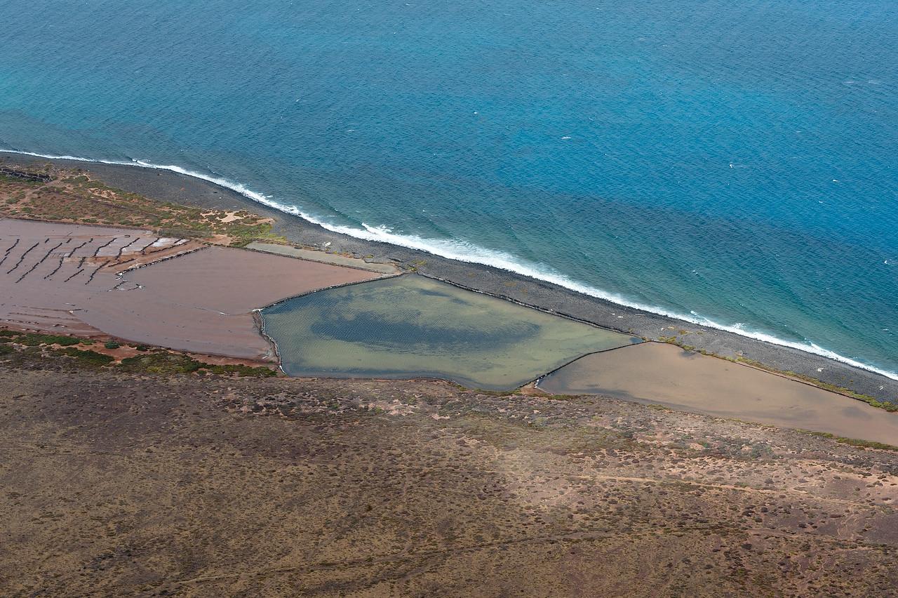 View of the coastline in La Graciosa Island in Canary Islands, Spain