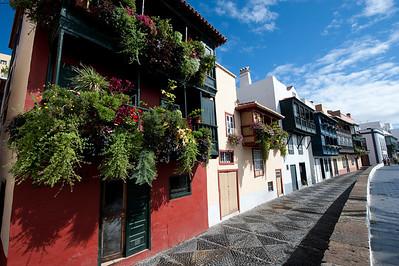 Village street in La Palma, Canary Islands, Spain