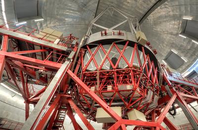 Inside the Gran Telescopio Canarias in La Palma, Spain