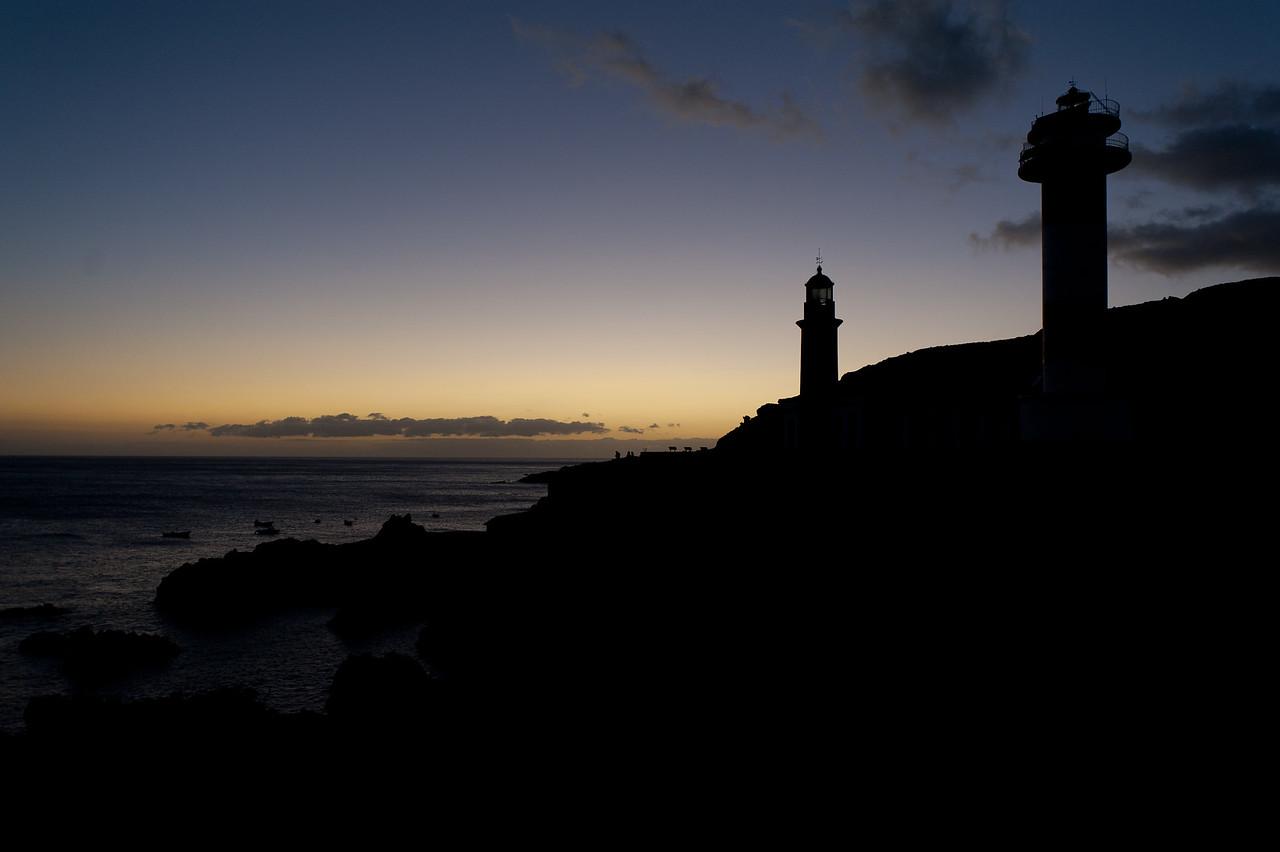 Punto de Fuencaliente in sunset in La Palma, Spain