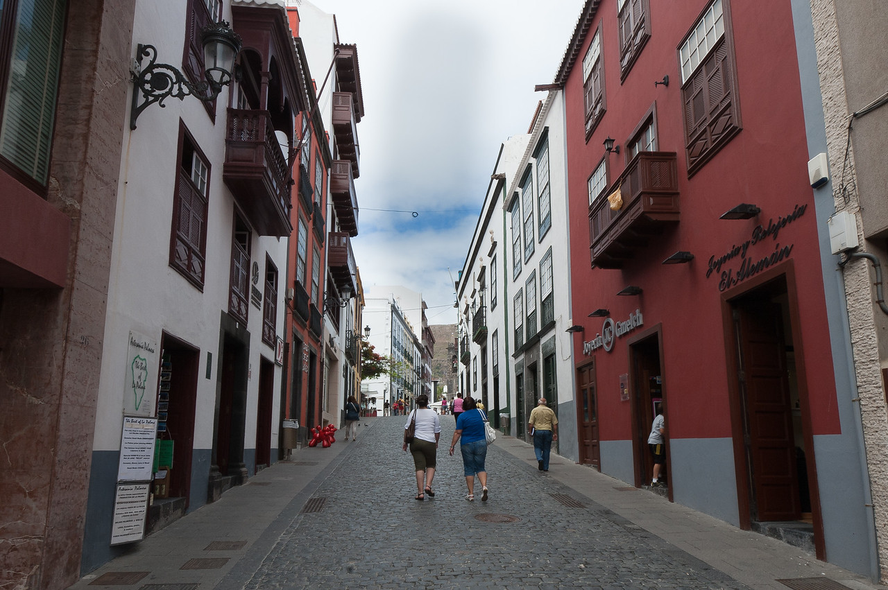 Street scene in La Palma, Canary Islands, Spain