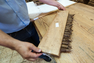 Tobacco cigar made by hand in El Sitio Cigar Factory in La Palma, Spain