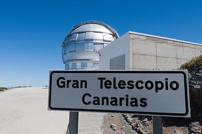 Entrance to The Gran Telescopio Canarias in La Palma, Spain