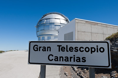 Entrance to The Gran Telescopio Canarias in La Palma, Spain