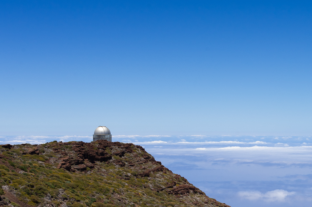 Telescope on the island of La Palma in the Canary Islands