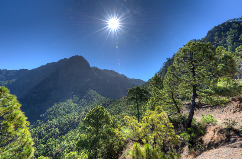 View at Caldera de Taburiente National Park in La Palma, Spain