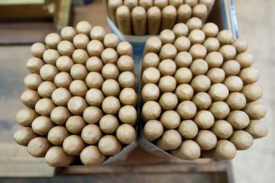 Bundles of cigars in El Sitio Cigar Factory in La Palma, Spain