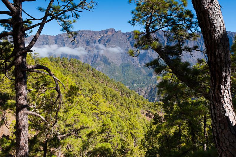 View from Caldera de Taburiente National Park in La Palma, Spain