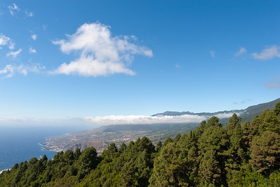 Aerial view of La Palma, Canary Islands, Spain